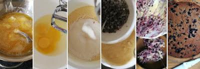 Zubereitung Heidelbeerkuchen mit weißer Schokolade