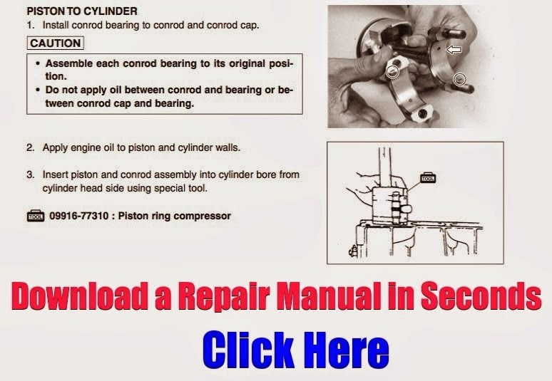 repair and overhaul of the 4-wheeler's main components  it contains  information on ever aspect of repair  download a manual to your computer in  seconds