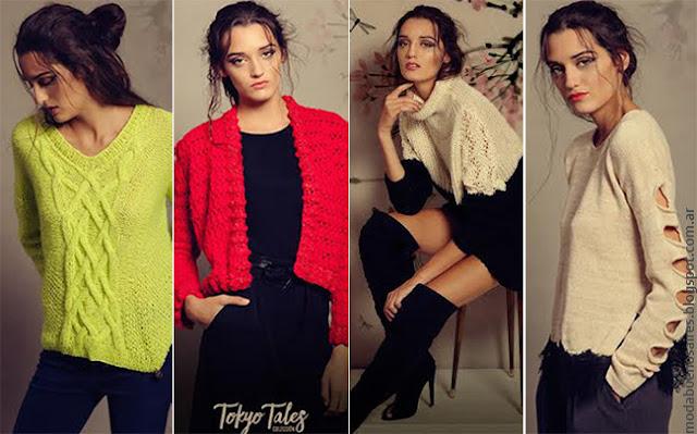 Moda otoño invierno 2016 tejidos artesanales mujer. Florencia Llompart otoño invierno 2016.
