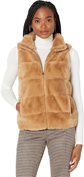 Nest Brown Faux Fur Vest For Women