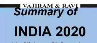 Vajiram and Ravi India Year Book 2020 Summary PDF