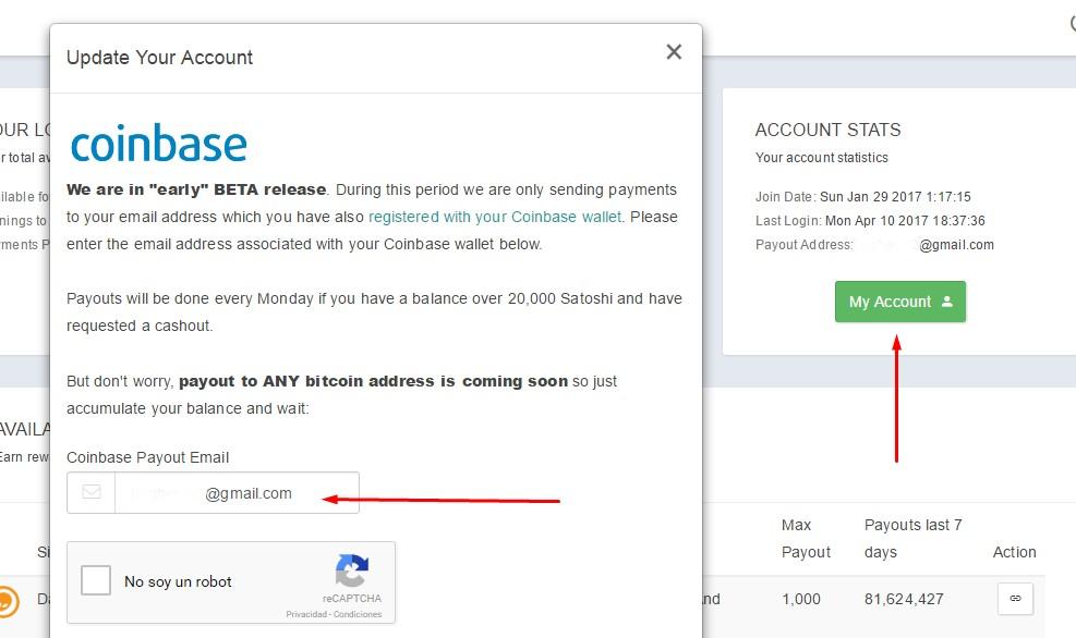 Bitcoin faucet for coinbase template : Bitcoin rate website builder