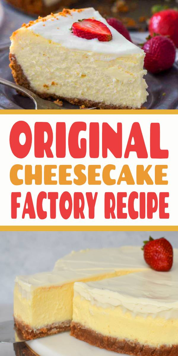 Cheesecake Factory Original Cheesecake Copycat Recipe can easily be made at home anytime you crave it. This is a luxurious and creamy cheesecake with a graham crust and sour cream topping. #cheesecake #cheesecakerecipes #cheesecakefactory #copycatrecipes #copycat #cake