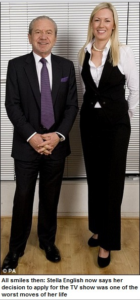 Apprentice  I was more like Sugar s skivvy  How reality TV show ... 59b2a7b8802a2
