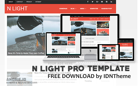 N Light Pro Responsive Premium Blogger Template