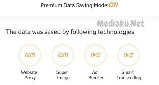 Cek Pemakaian Data Di UC Browser