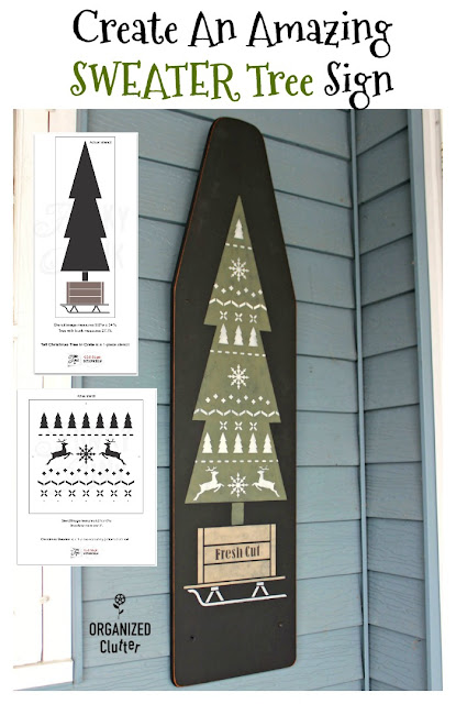 Create An AMAZING SWEATER TREE Sign On A Vintage Ironing Board