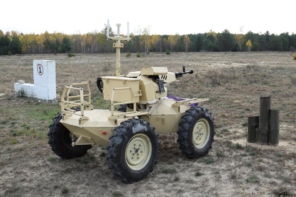 ЗСУ випробовують роботизовану платформу