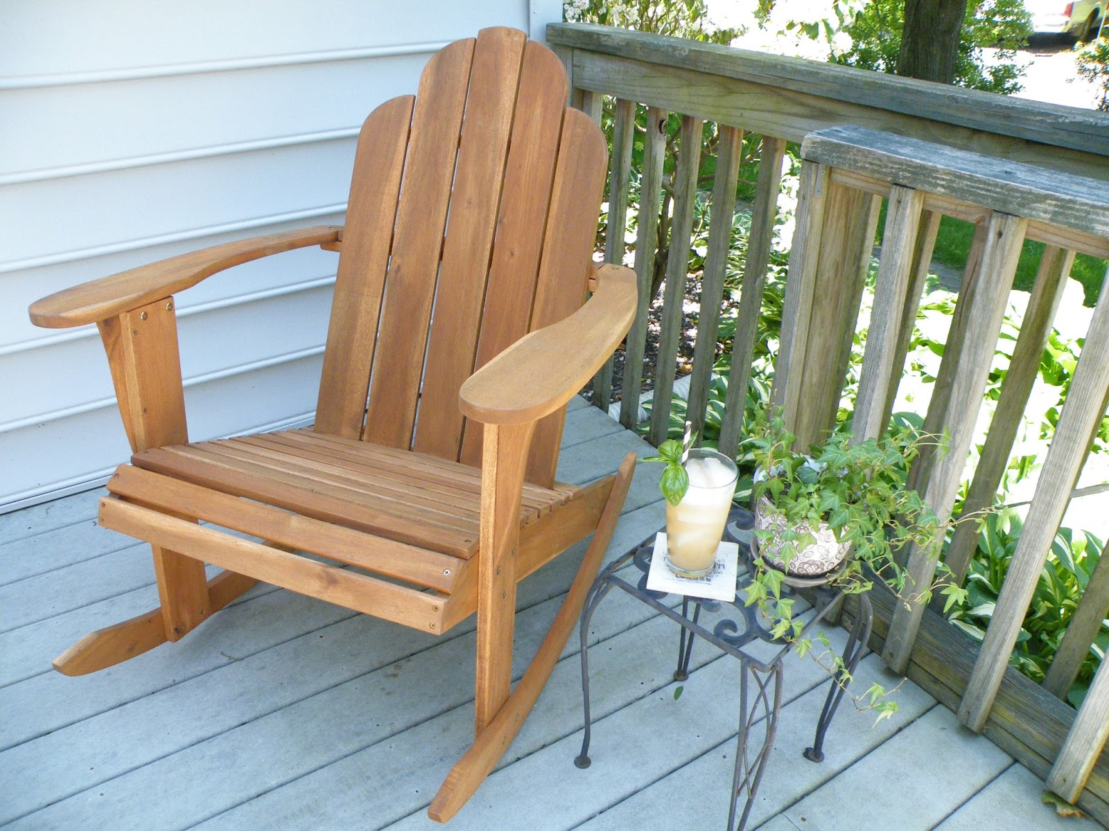 Adirondack Rocking Chair Plans Vittles And Bits Grapefruit And Basil Soda