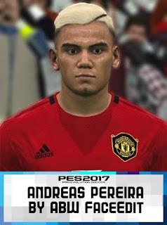 PES 2017 Faces Andreas Pereira by ABW_FaceEdit