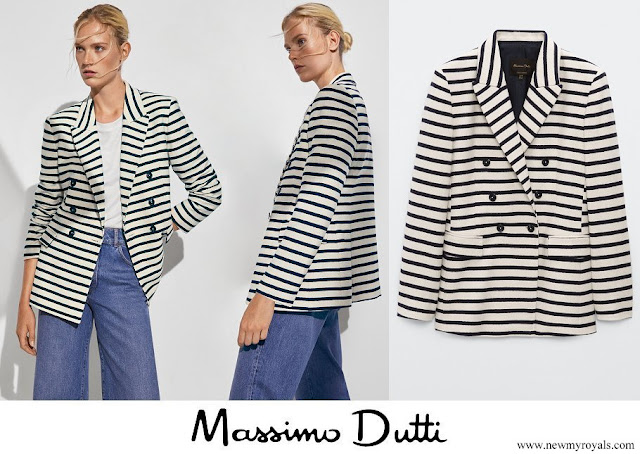 Crown Princess Mary wore a new Massimo Dutti double breasted striped blazer