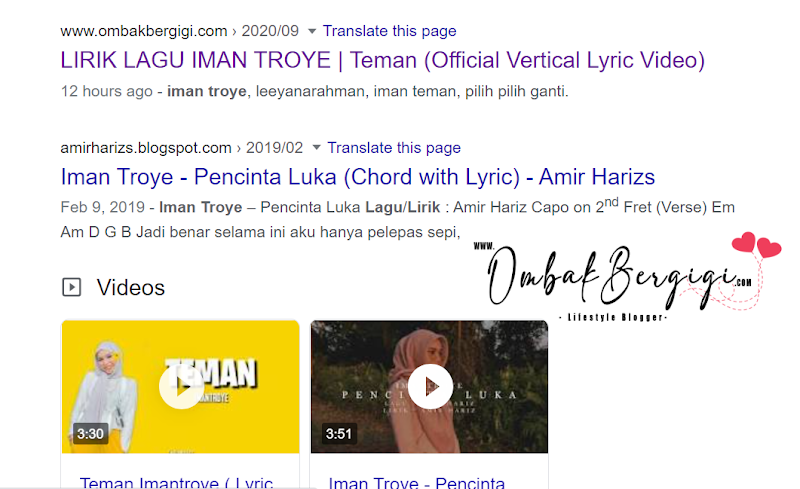 Baru Sehari Dah Naik Di Carian Pertama Google!
