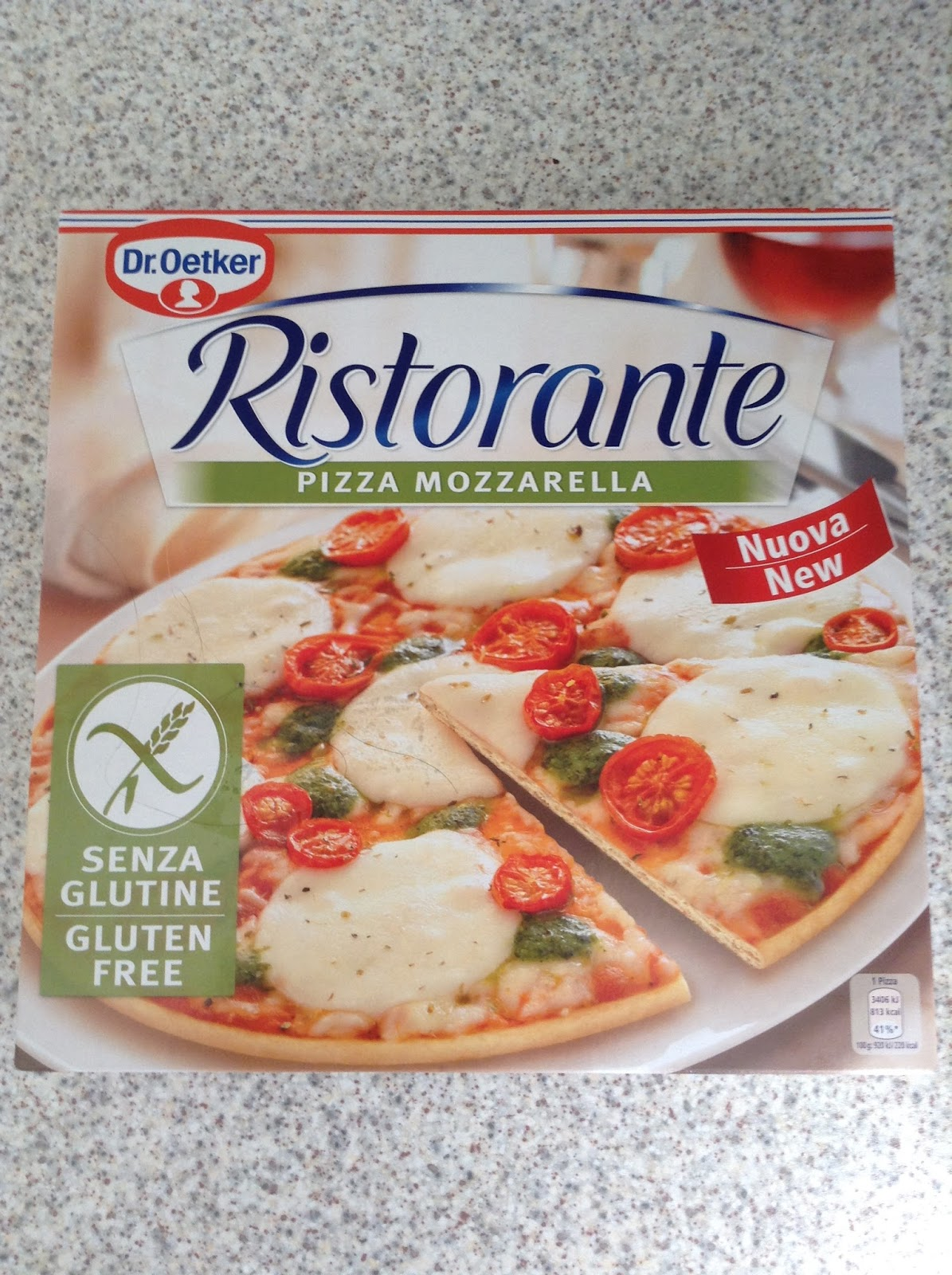 dr oetker gluten free ristorante pizza mozzarella. Black Bedroom Furniture Sets. Home Design Ideas