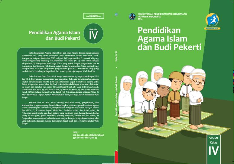 Download Gratis Buku Siswa Pendidikan Agama Islam dan Budi Pekerti Kelas 4 SD Kurikulum 2013 Format PDF