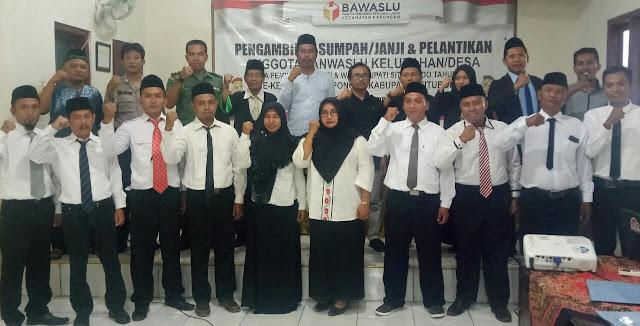 Hadiri Prosesi Pelantikan PKD Panwaslu Kecamatan Kapongan, Pimpinan Bawaslu Kabupaten Situbondo Tekankan Nilai-Nilai Pengawasan