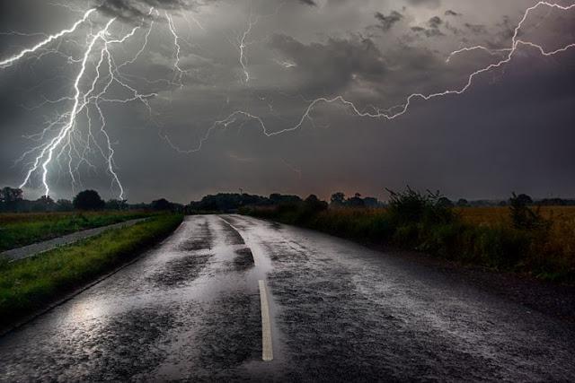 أمطار غزيرة و عواصف رعدية مع قرب انتهاء موجة ارتفاع الحرارة في هولندا