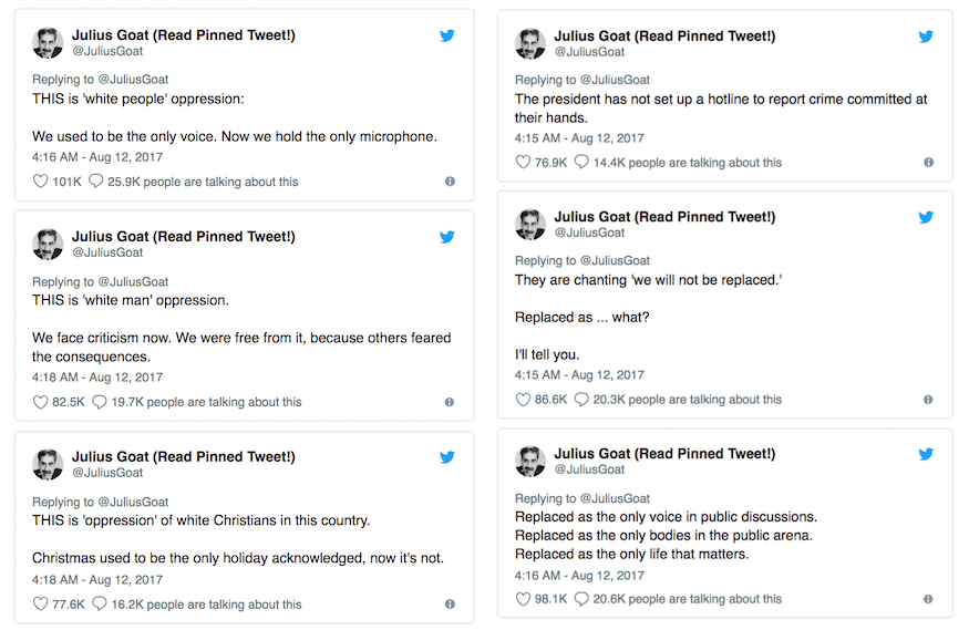 @JuliusGoat twitter response to neo-nazi protest