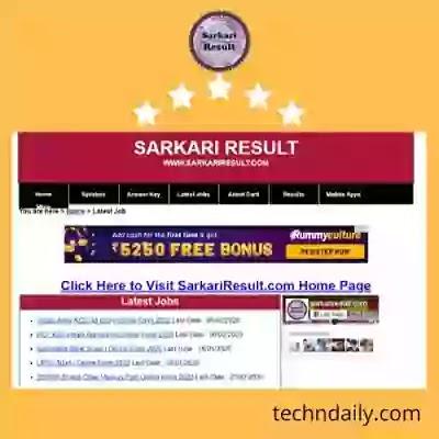 SarkariResult 2020: Sarkari Naukari, All Government Job, Result And Online Form 2020