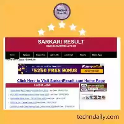 SarkariResult 2020: Sarkari Naukari, All Government Job, Result And Online Form 2020