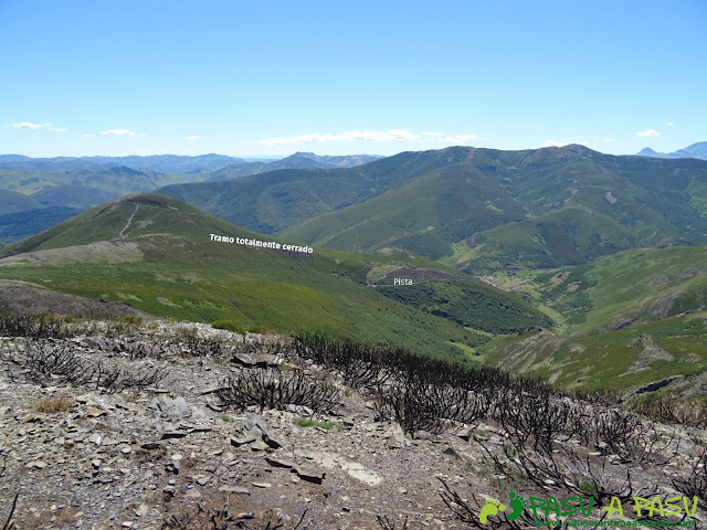 Vista de la zona totalmente cerrada bajo el Collado Sierra Bermejo
