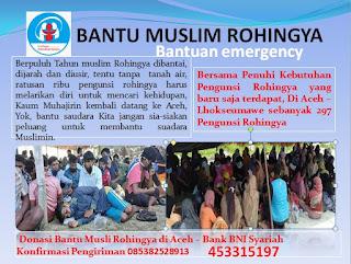 Bantu Pengunsi Rohingya terdampar di Aceh