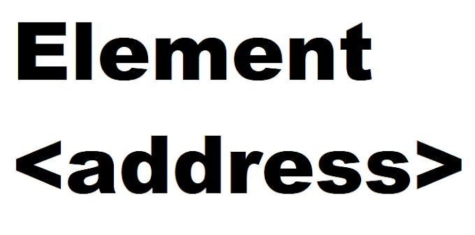Apa Itu address Pada HTML