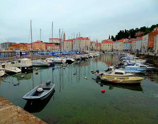 Sea port.