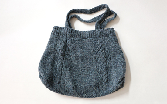 Felted Knit Wool Tote Bag