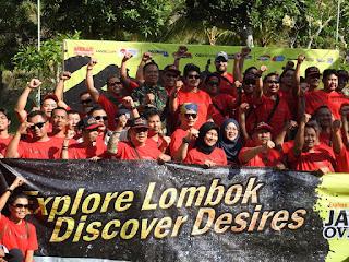 Kasilog Korem 162/WB Lepas Galena Rescue Java Offroad Jelajah Lombok
