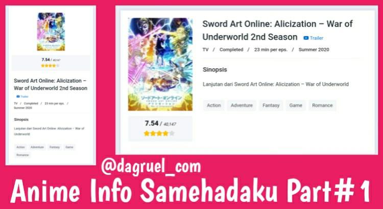 Anime Info Samehadaku Part#1