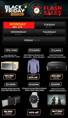 Jumia Black Friday Festival Day 22 Deals 4th December 2017