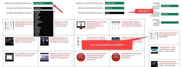 mappa del sito per blog su blogger
