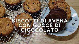 biscotti avena gocce cioccolato vegan senza glutine