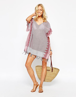 Oysho Embroidered Trim Kaftan