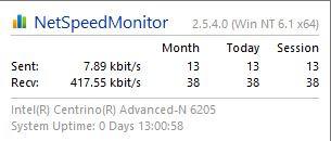Net Speed Monitor 2.5.4.0 Semua Windows 64bit Gratis