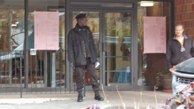 Black panthers blocking intimidating voters