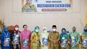 Plt Wali Kota Tanjungbalai Hadiri Acara Musda V GOW  2021