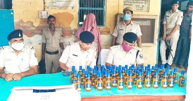 पटना से मिली पुलिस को सूचना, छापेमारी में बरामद हुआ 10 लाख की कीमत का शराब