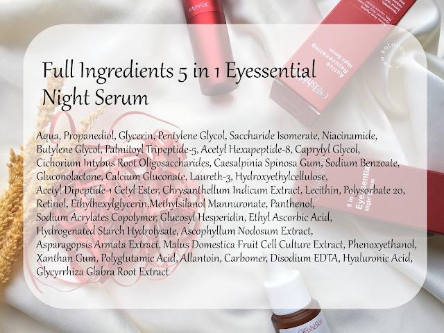 ingredients eye serum elsheskin