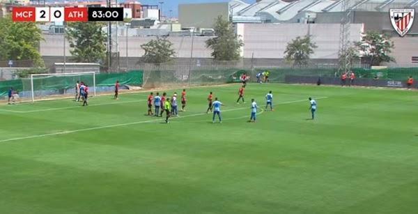 El Málaga Juvenil A gana en estos momentos al Athletic con doblete de Roberto (2-0)