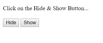 hide and show Image |  jQuery Image