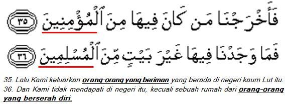 Surat Al-Dzariyat (51); ayat 35-36