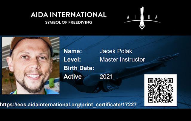 Kursy Freedivingu AIDA - Master Instructor Jacek Polak