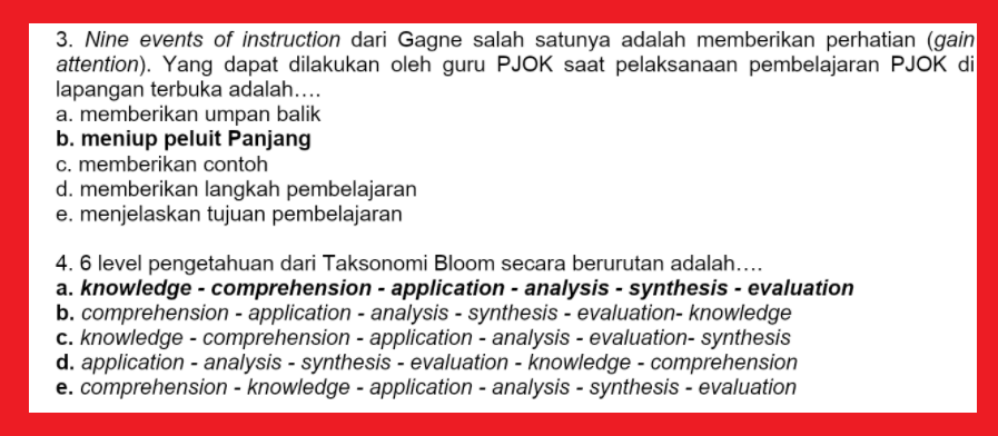 gambar soal reviu pembelajaran 8 pppk pjok