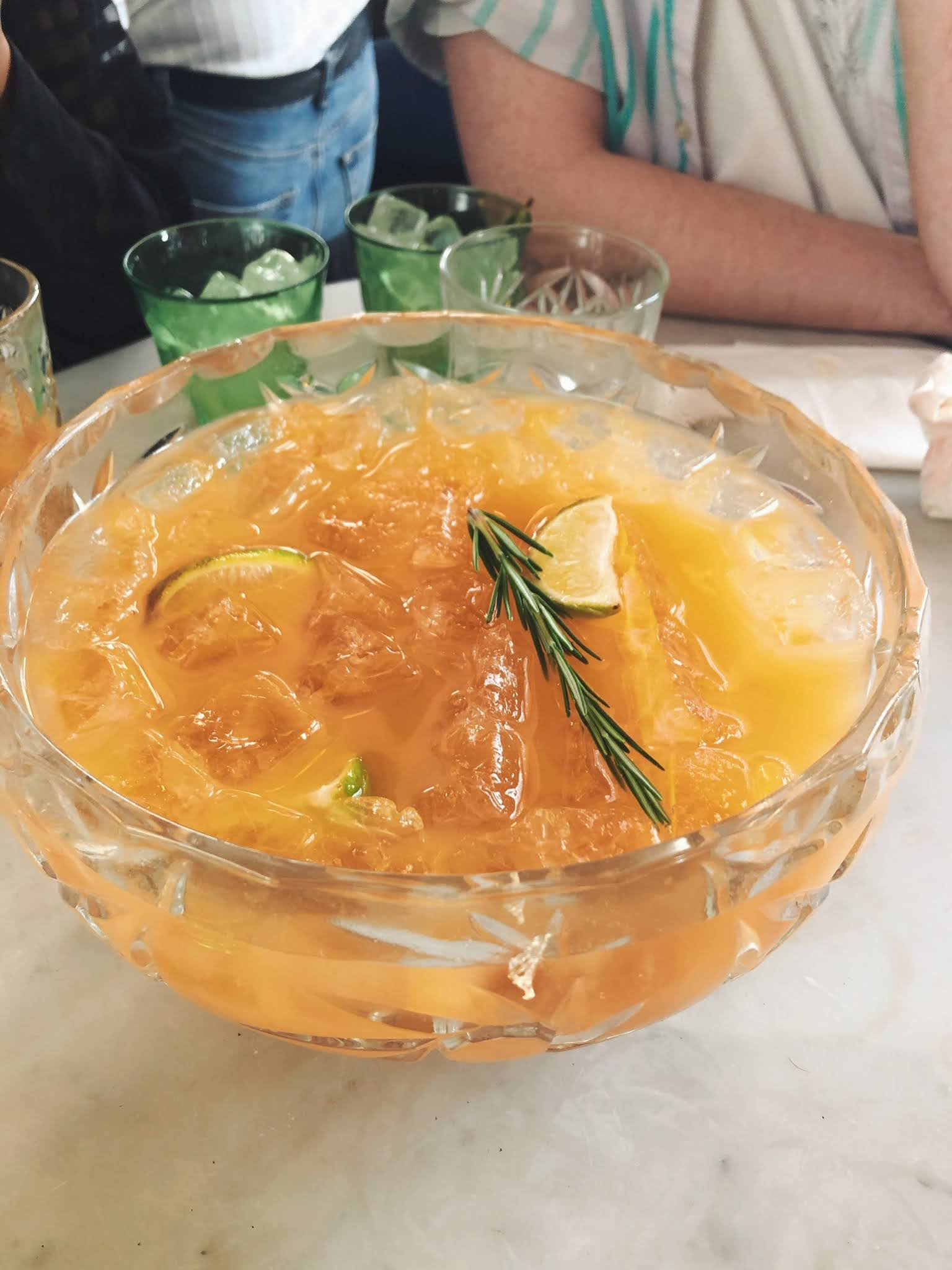 serata hall london bottomless brunch old street rum punch bowl