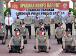 Upacara Korp Raport Kenaikan Pangkat Personel Polres Langsa