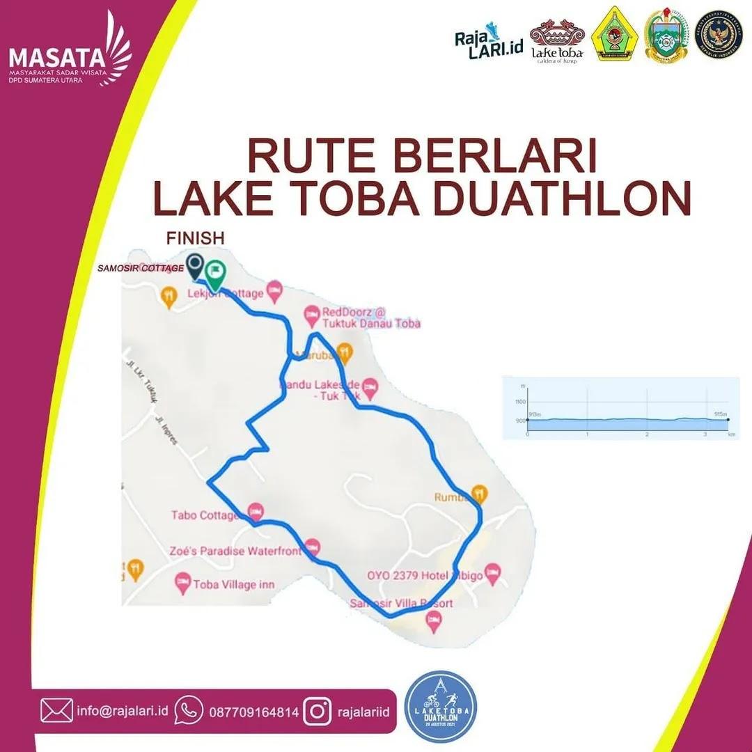 Running � Lake Toba Duathlon • 2021