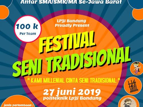 Festival seni tradisional LP3I Bandung