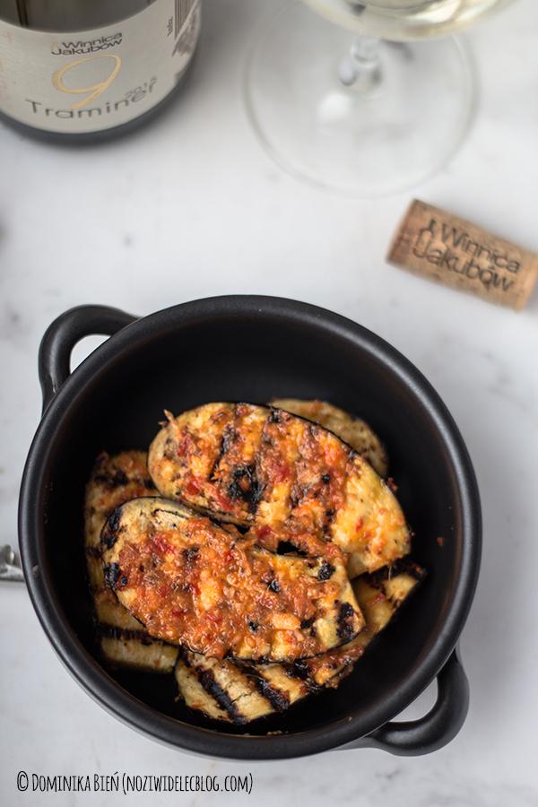 bakłażan, czerwone curry