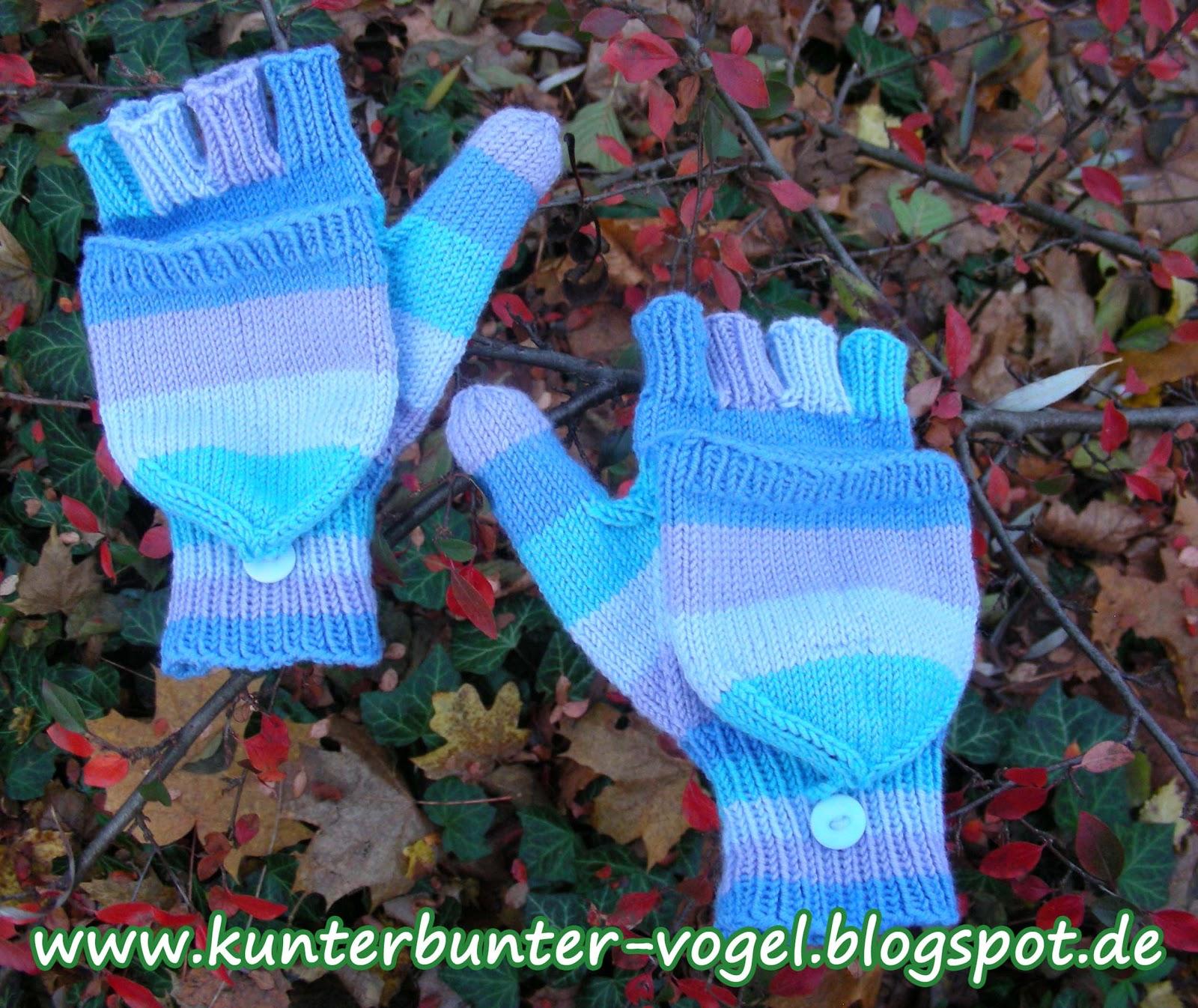 Kunterbunter Vogel Anleitung Handschuhe Mit Fingerkappe Teil 1